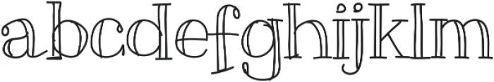 Slim ttf (400) Font LOWERCASE