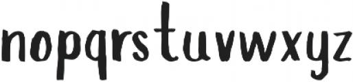 Slopes Regular ttf (400) Font LOWERCASE