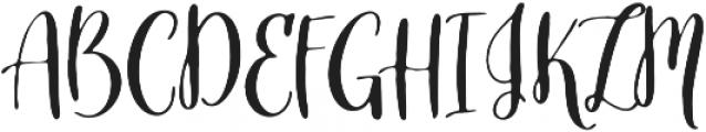 Slowbird Regular ttf (400) Font UPPERCASE