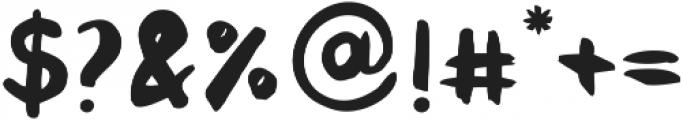 Sluggard otf (400) Font OTHER CHARS
