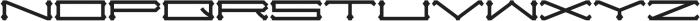 Slugger Extended otf (400) Font UPPERCASE