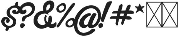 Slugger Script otf (400) Font OTHER CHARS