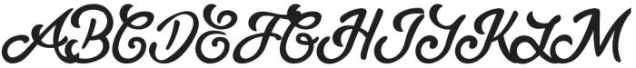 Slugger Script otf (400) Font UPPERCASE