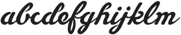 Slugger Script otf (400) Font LOWERCASE