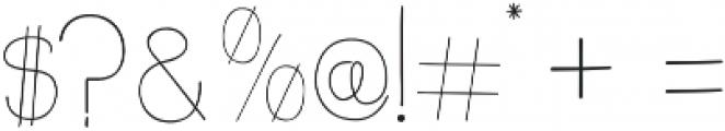 slimkid Light otf (300) Font OTHER CHARS