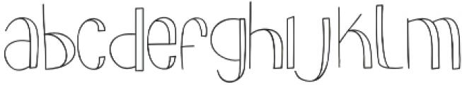 slimkid Light otf (300) Font LOWERCASE