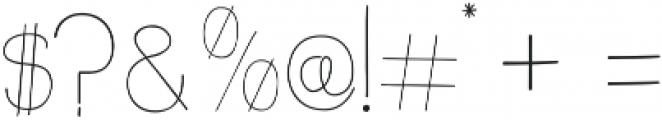 slimkid Light ttf (300) Font OTHER CHARS