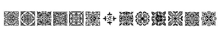SL Square Ornaments Font LOWERCASE