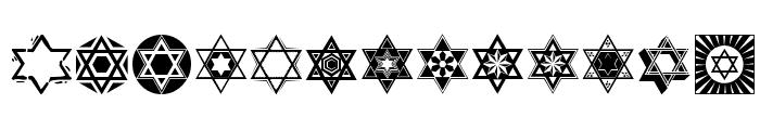 SL Star of David Font LOWERCASE