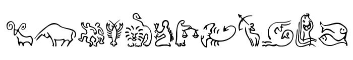 SL Zodiac Icons Font LOWERCASE