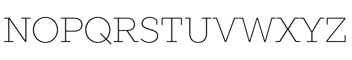 SLABSTHIN Font UPPERCASE