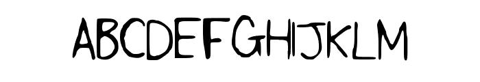 SLF_Handwriting Font UPPERCASE