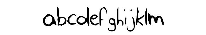 SLF_Handwriting Font LOWERCASE