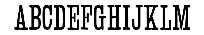 Slab Serif HPLHS Font UPPERCASE