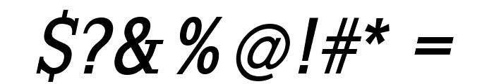 SlabRomana-BoldOblique Font OTHER CHARS