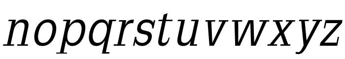 SlabRomana-Oblique Font LOWERCASE