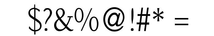 SlabRoundSerif-Light Font OTHER CHARS