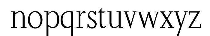SlabRoundSerif-Light Font LOWERCASE
