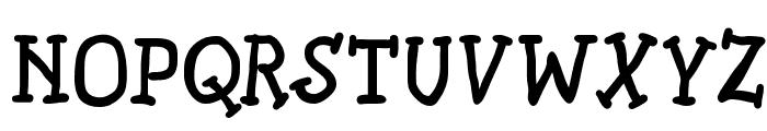 SlabSerifWrittenBold Font UPPERCASE