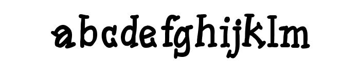 SlabSerifWrittenBold Font LOWERCASE