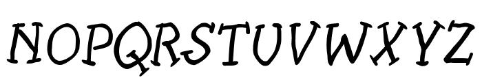SlabSerifWrittenItalic Font UPPERCASE
