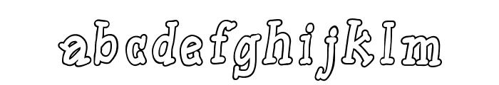 SlabSerifWrittenOutlineBold Font LOWERCASE