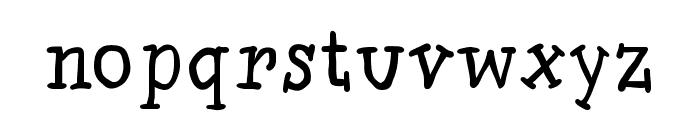 SlabSerifWritten Font LOWERCASE