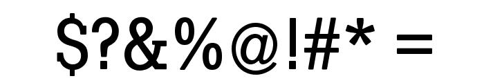 SlabTallX-Medium Font OTHER CHARS