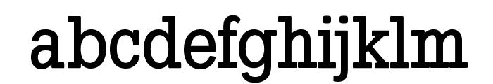 SlabTallX-Medium Font LOWERCASE
