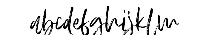 SlaborBrush Font LOWERCASE