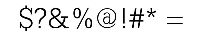 SlabserifXhigh Font OTHER CHARS