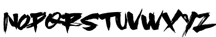 SlackerBrush Font UPPERCASE