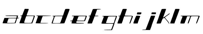 SlantGeo Font LOWERCASE