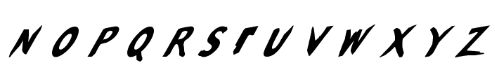 Slantalic Font UPPERCASE