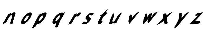 Slantalic Font LOWERCASE