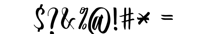 Slash Bold Font OTHER CHARS
