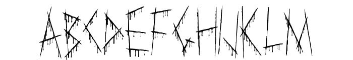 Slasha Font UPPERCASE