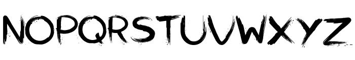 Slasher Font UPPERCASE