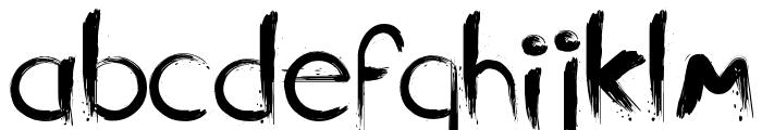 Slasher Font LOWERCASE