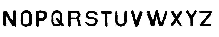 Slater Industrial Font UPPERCASE