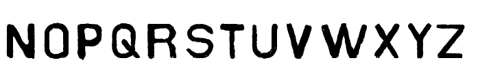 Slater Industrial Font LOWERCASE