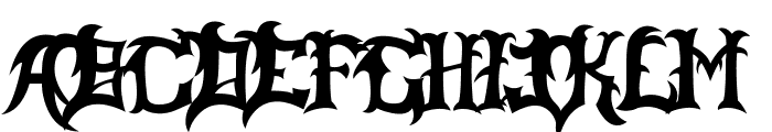 Slayer Dragon Font UPPERCASE