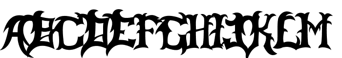 Slayer Dragon Font LOWERCASE