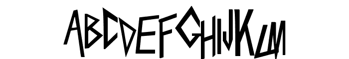 Slaytanic Font UPPERCASE