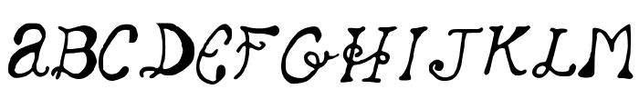 SleepingBeauty Font UPPERCASE