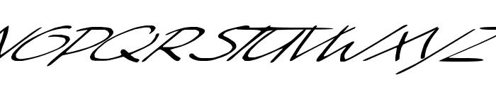 Sleight Of Hand Font UPPERCASE