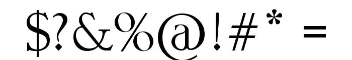 Slender Font OTHER CHARS