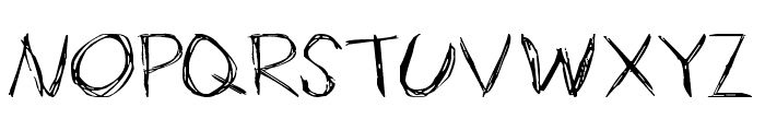 Slender Font UPPERCASE