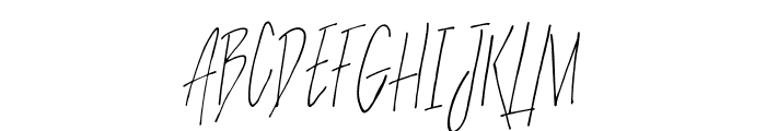 SlenderThin Font UPPERCASE