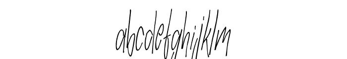 SlenderThin Font LOWERCASE